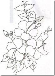 risco flor pintura em tecido 8