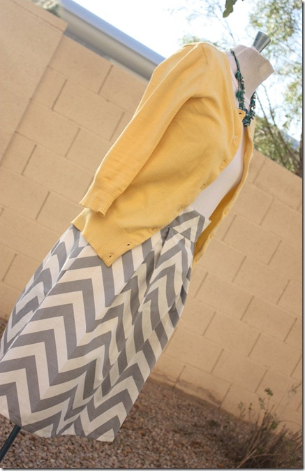 Chevron Skirt_Whole Body