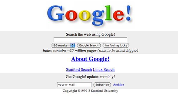 2.1_Google first homepage1998