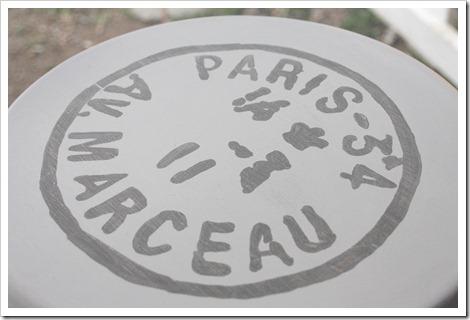 Paris Postmark Stool