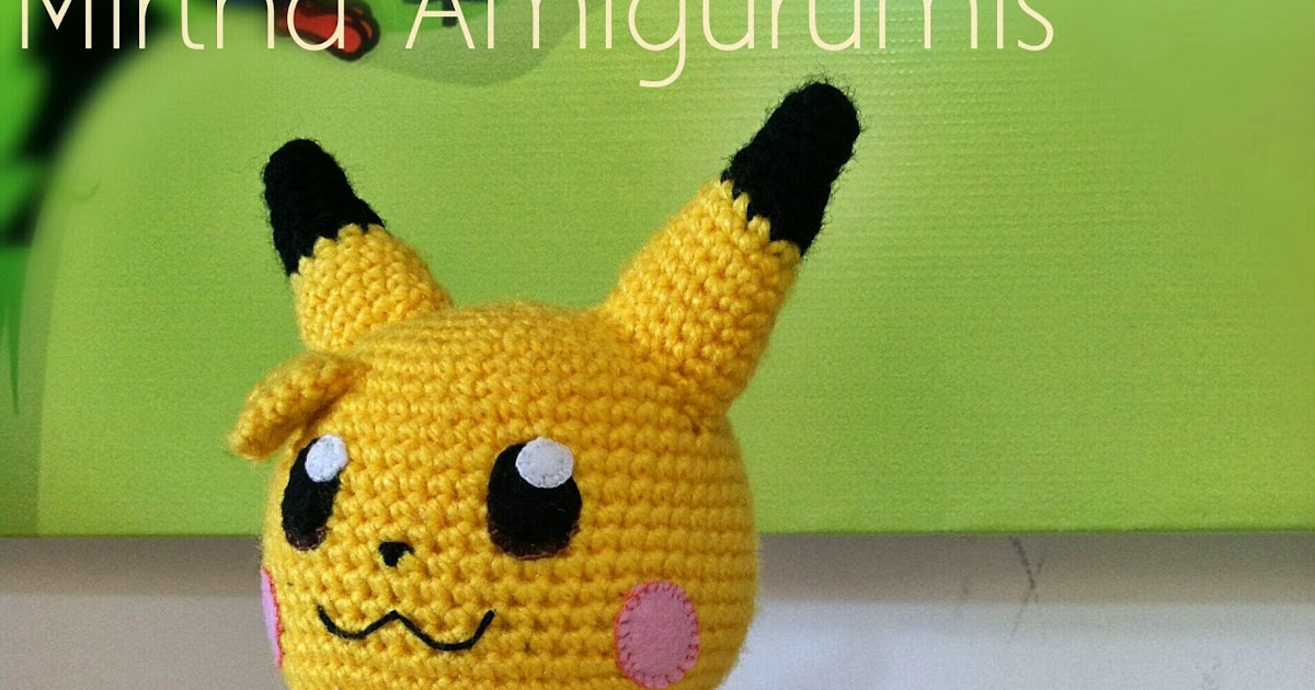 Pikachu En Amigurumi : Mirtha Amigurumis: Baby Pikachu Amigurumi