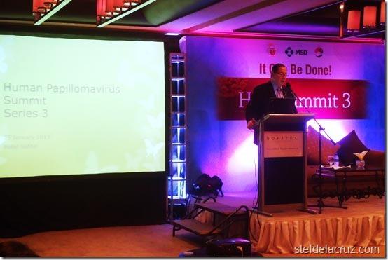Dr. Eric Tayag at HPV Summit Series 3