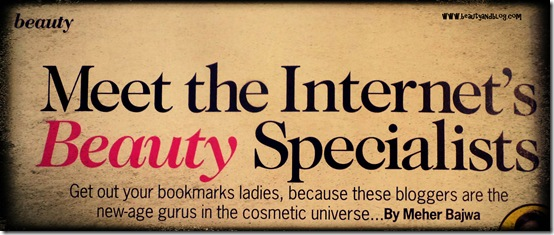 Beauty And The Blog Featured In Cosmopolitan India