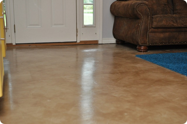 Dibble Dabble Life Diy Painted Stained Concrete Living Room Floors