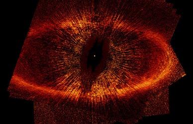 disco de poeira ao redor da estrela Fomalhaut