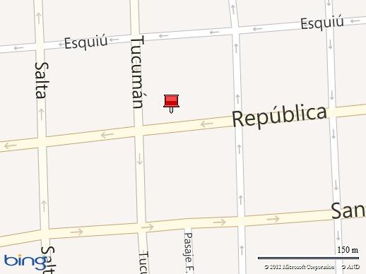 Estamos en República 832 entre Vicario Segura y Tucumán