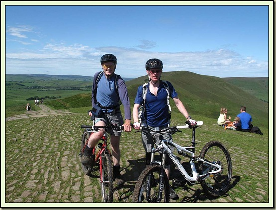 Martin and Richard on the summit of Mam Tor