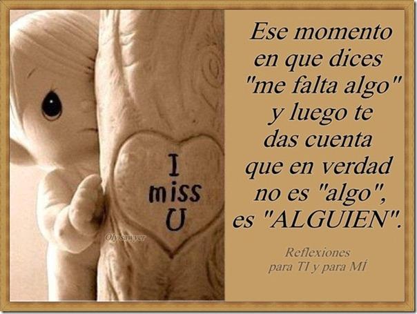 me faltas tu