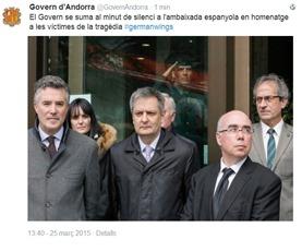 minuta de silenci catastròfa de germanwings Andorra