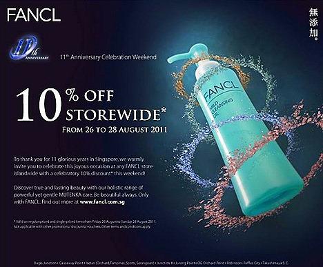 Fancl Sale 10%