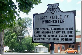First Battle of Winchester  A-7 along the Valley Pike