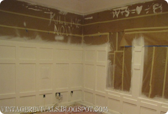 DIY Striped Chevron Wall Treatment 362