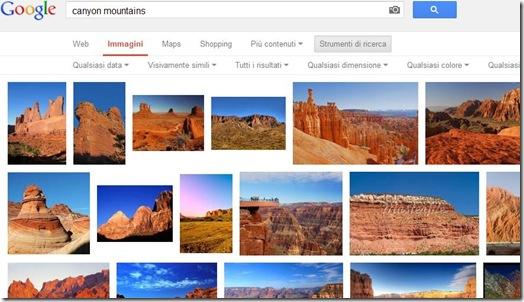 Elenco completo di Immagini visivamente simili trovate da Google Immagini