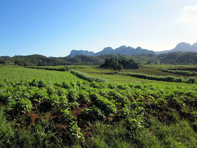 Exciting landscapes approaching Vinales.