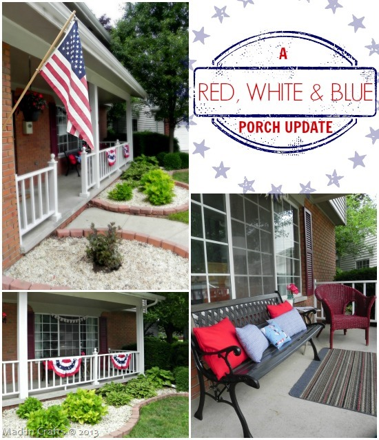 Red, White and Blue Porch Update