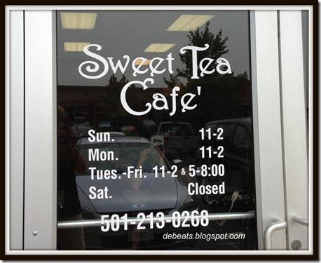 sweet tea cafe door framed