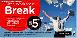 Air Asia Ditch Work For A Break 5 Dollar Promotion Air Fares Singapore 2013 Deals Offer Shopping EverydayOnSales