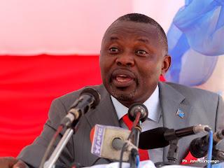 – Vital Kamerhe, président national de l'Unc ce 21/06/2011 à Kinshasa, lors de la signature de la charte des membres de AVK. Radio Okapi/ Ph. John Bompengo