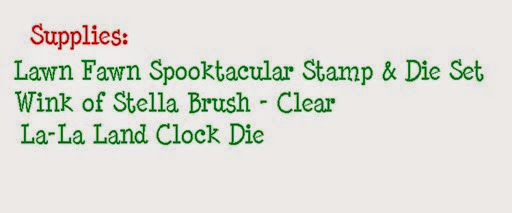 Mini Halloween Witching Hour supplies