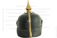 A rear view of the Pickelhaube model 1895