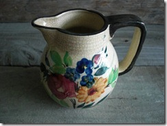 small floral pitcher