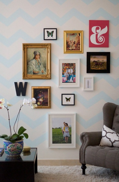 Caitlin-Wilson-Design-Style-Files-chevron-gallery-wall