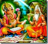 [Vyasadeva dictating to Ganesha]