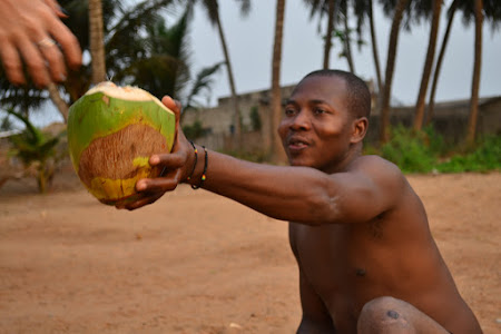 5.Voluntar in Africa: pe plaja in Togo