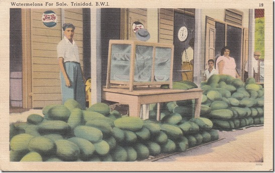 Watermelons for Sale - Trinidad. B.W.I. pg. 1