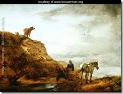 Landscape-with-a-Grey-Horse-and-Figures-by-the-Wayside