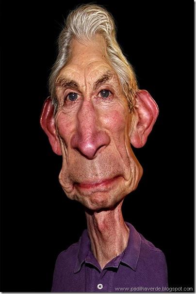Caricatura Rolling Stones -  Charlie Watts