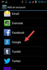 เพิ่มหลาย ๆ account ใน android