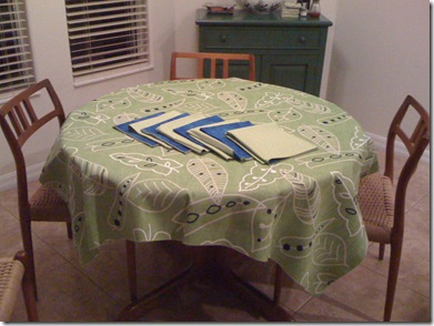 tablecloth and napkins