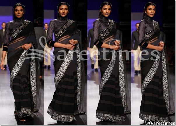 Manish_Malhotra_Black_Sari