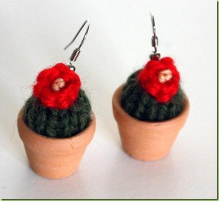 orecchini cactus con vaso