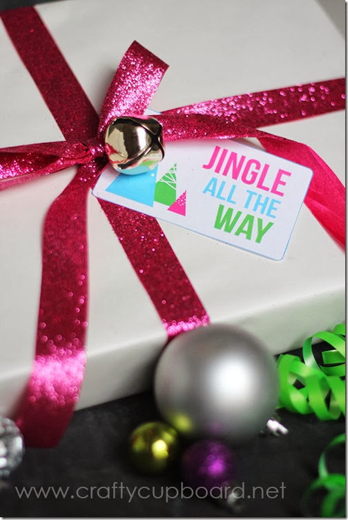 Jingle All The Way Free Gift Tag by The Crafty Cupboard