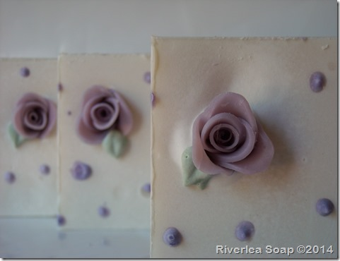 Handmade Rose Soap Lilac-016