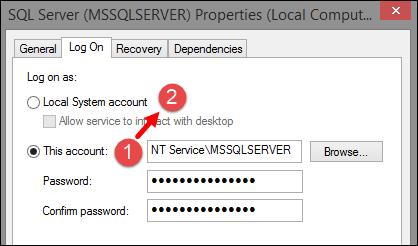 SQL Service LogOn