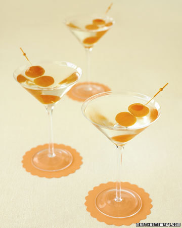 Citrus-flavored vodka celebrates winter, when citrus fruits are at their peak. The recipe is simple and calls for 2 candied clementines, 6 ounces of citrus-flavored vodka and 2 ounces of triple sec.