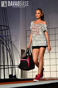 Sports wear on a female model during the Style Origin Fashion Show at Abreeza