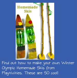 DIY Winter Olympic Skis for Kids