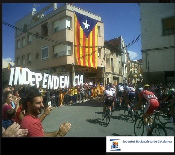 Vuelta de España e nacionalista catalan