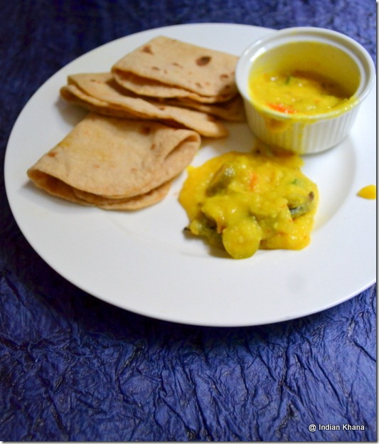 split yellow dal with tindora ivy gourd recipe