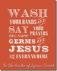 Germs and Jesus - Free Printable