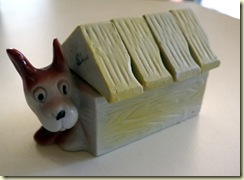 vintage doghouse figurine