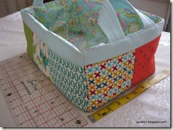 other side of scrappy fabric basket