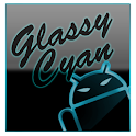 GOKeyboard Theme Glassy Cyan icon