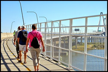 06a - Gail, Rick, Bill walking the bridge