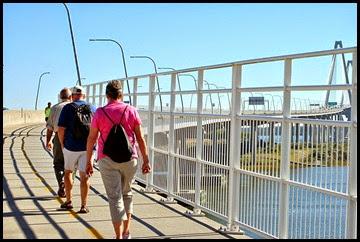 06a - Gail, Rick, Bill walking the bridge