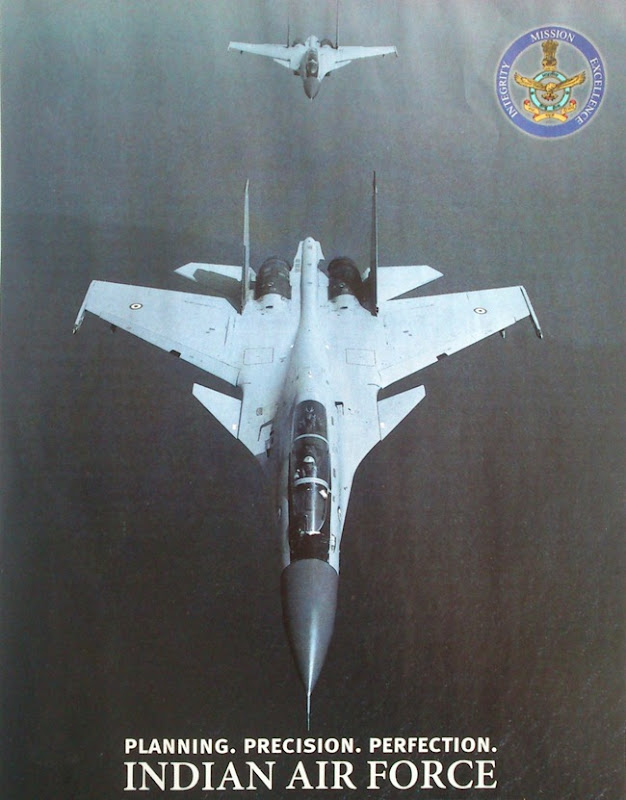 India Air Force [IAF] Recruitment Poster - A Pair of Sukhoi Su-30 MKI fighters flying in formation